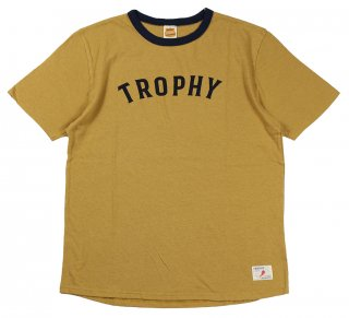 TROPHY CLOTHING [-Classic Athletic Tee- Mustard size.36,38,40,42]
