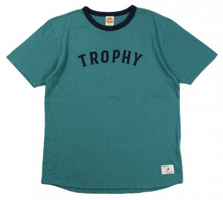 TROPHY CLOTHING [-Classic Athletic Tee- Turquoise size.36,38,40,42]