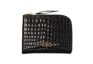 GUILTY FLAME [-GF-EZW1PC EASY WALLET (STUDS TYPE)- BLACK]