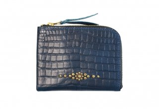GUILTY FLAME [-GF-EZW1PC EASY WALLET (STUDS TYPE)- NAVY]