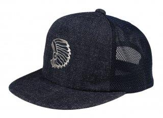 TROPHY CLOTHING [-DIRT DENIM CHIEF TRACKER CAP- Indigo×Navy]