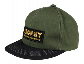 TROPHY CLOTHING [-SUPERIOR LOGO TRACKER CAP- Dope Green×Black]