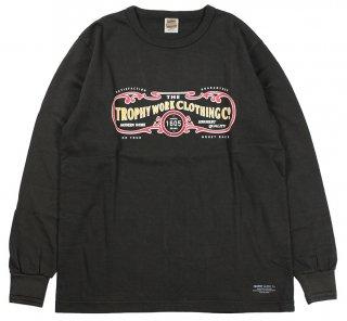 TROPHY CLOTHING [-15TH WORK LOGO OD L/S TEE- Gun Black size.36,38,40,42]
