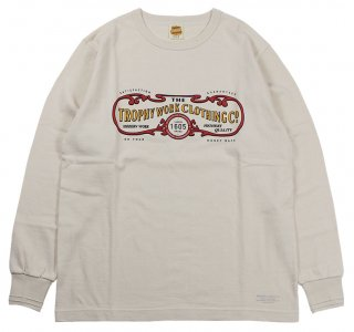 TROPHY CLOTHING [-15TH WORK LOGO OD L/S TEE- Natural size.36,38,40,42]