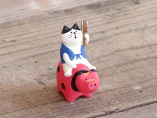 concombre FUKUMONOマスコット 猫と赤べこ