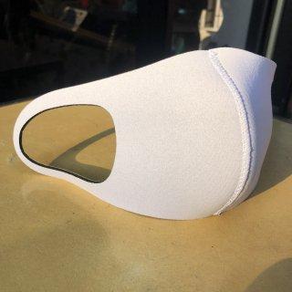 ウェットスーツ生地マスク 白マスク