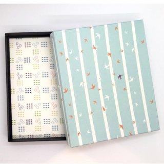 懐紙10枚と箱のセット (懐紙:雲、箱:燕)