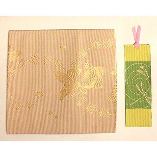 博多織ブックカバ-A6判 (しおり付) K