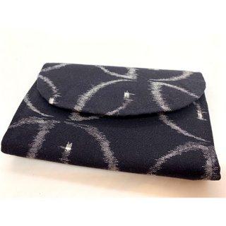 久留米かすり カードケース 黒