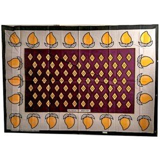 輸入商品 カンガ布 タンザニア アフリカ パープル03