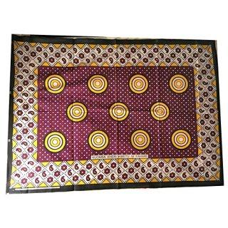 輸入商品 カンガ布 タンザニア アフリカ パープル04