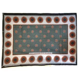 輸入商品 カンガ布 タンザニア アフリカ ブラック01
