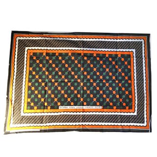 輸入商品 カンガ布 タンザニア アフリカ ブラック02
