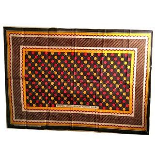 輸入商品 カンガ布 タンザニア アフリカ ブラック03