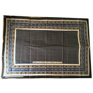 輸入商品 カンガ布 タンザニア アフリカ ブラック04