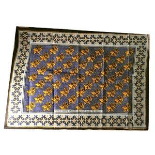 輸入商品 カンガ布 タンザニア アフリカ ブルー02