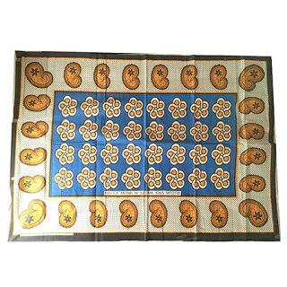 輸入商品 カンガ布 タンザニア アフリカ ブルー03