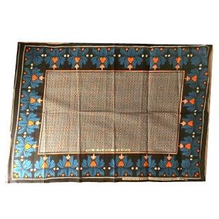 輸入商品 カンガ布 タンザニア アフリカ ブルー04