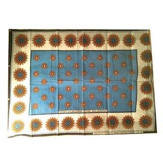 輸入商品 カンガ布 タンザニア アフリカ ブルー05
