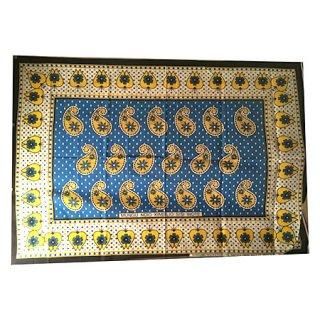 輸入商品 カンガ布 タンザニア アフリカ ブルー06