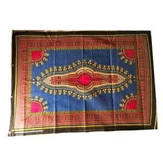 輸入商品 カンガ布 タンザニア アフリカ ブルー08