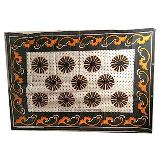 輸入商品 カンガ布 タンザニア アフリカ ホワイト13