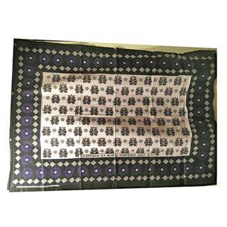 輸入商品 カンガ布 タンザニア アフリカ ホワイト23