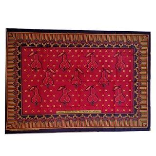 輸入商品 カンガ布 タンザニア アフリカ レッド01