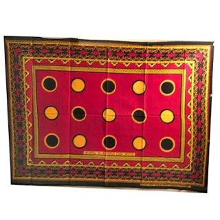 輸入商品 カンガ布 タンザニア アフリカ レッド06