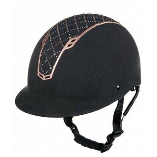 アーガイルヘルメット 黒/ローズゴールド