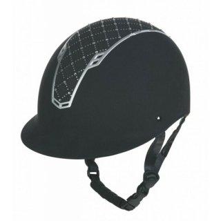 アーガイルヘルメット 黒/シルバー