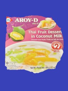 THAI FRUIT DESSERT IN COCONUT MILK AROY-Dカノンルアムミット アロイD  180g