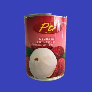 LYCHEE IN SYRUP PTIライチ シロップ漬け 24x565g  CASE