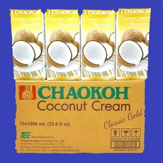 COCONUT MILK (CHAO KOH) PACK ココナツミルク  チャオコー1000ml×12入紙パック CASE