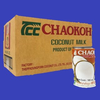 COCONUT MILK (CHAO KOH)ココナツミルクチャオコ-165ml×48缶入り CASE