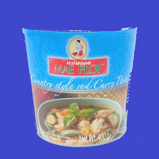 COUNTRY STYLE RED CURRY PASTE(CUP)(MAE PLOY)カントリースタイルレッドカレー メープロイ 24x 400g CASE