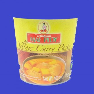 YELLOW CURRY PASTE (CUP)(MAE PLOY)イエローカレーペースト メープロイ24x400g CASE