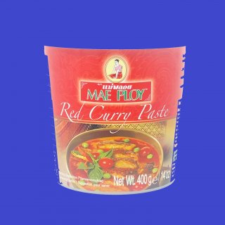 RED CURRY PASTE(CUP)(MAE PLOY) レッドカレーペースト メープロイ 24x400g CASE