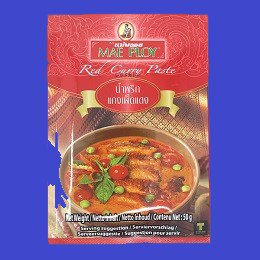 RED CURRY PASTE (PACK) (MAE PLOY)レッドカレーペースト ゲーンデン メープロイ 10x50g×12個 CASE