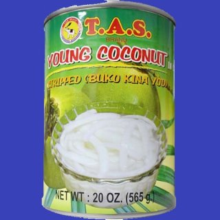 TAS STRIPPED YOUNG COCONUT MEAT 24X565g CASE