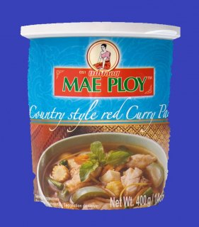 COUNTRY STYLE RED CURRY PASTE(MAE PLOY)カントリースタイルレッドカレー ペーストメープロイ 24x 400g CASE