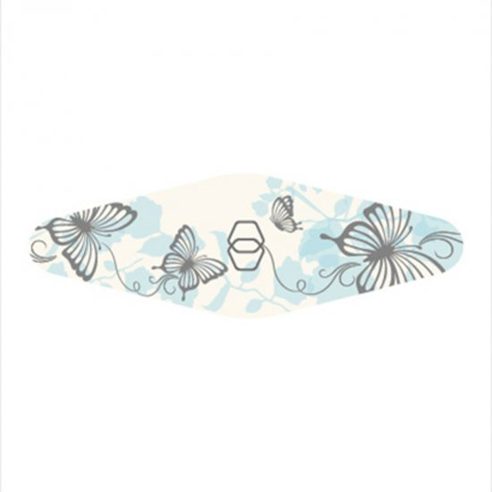 ダイヤモンドファイル Carry (ブルー 蝶々)