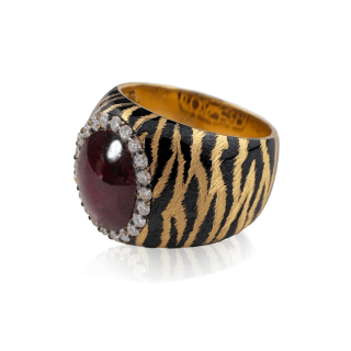 Bianca Ring K18 / Pt900 -Tiger [Star Ruby]