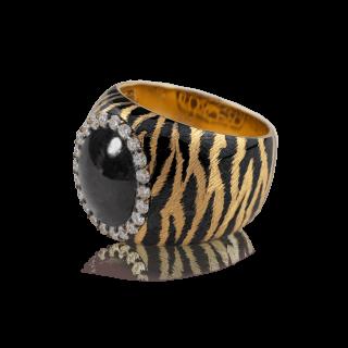 Bianca Ring K18 / Pt900 -Tiger [Blackstar Sapphire]