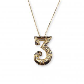 Numero Pendant K18 -Tre