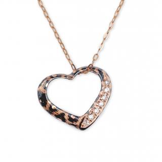 [La Luce] Heart-Shape Pendant (K10YG / K10PG)