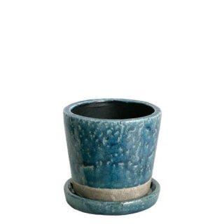 DULTON(ダルトン)カラーグレイズドポット(鉢植え)Mサイズ ミッドナイトブルー