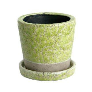 DULTON(ダルトン)カラーグレイズドポット(鉢植え)Sサイズ ライムグリーン