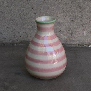 DK1002201936 Vase ボーダーピンク