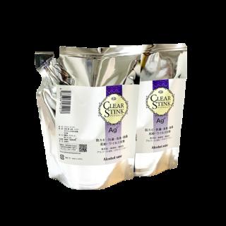 クリアスティンク 銀イオン +アルコール 除菌 抗菌 消臭 アルコールミスト詰め替え用400ml 2個パック